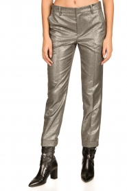 Set |  Metallic chino trousers Danino | metallic  | Picture 5