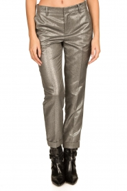 Set |  Metallic chino trousers Danino | metallic  | Picture 4