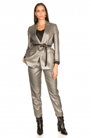 Set |  Metallic chino trousers Danino | metallic  | Picture 2
