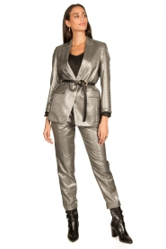 Set |  Metallic chino trousers Danino | metallic  | Picture 3