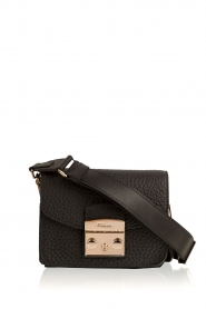 Leather shoulderbag Metropolis Mini | black