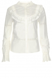 Silvian Heach |  Blouse with lace Buriram | white  | Picture 1