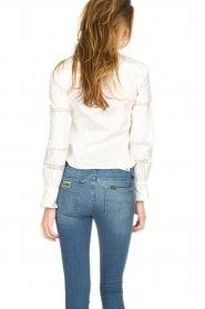 Silvian Heach |  Blouse with lace Buriram | white  | Picture 4