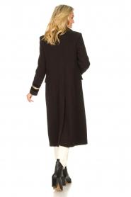Kocca |  Cloak coat with striped details Obioma | black  | Picture 6