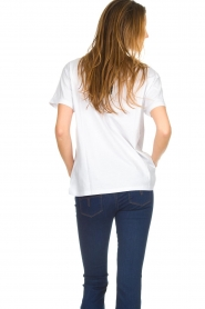 Silvian Heach |  T-shirt with sequin decoration  | white  | Picture 5