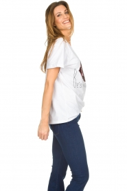 Silvian Heach |  T-shirt with sequin decoration  | white  | Picture 4