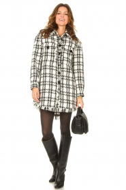 Kocca |   Blouse dress with lurex Adofo | black  | Picture 3