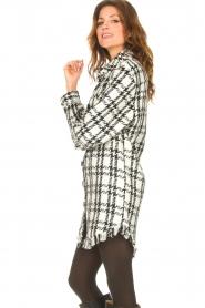 Kocca |   Blouse dress with lurex Adofo | black  | Picture 5
