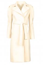Kocca |  Cloak coat with tie belt Azekel | natural   | Picture 1