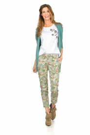 Silvian Heach |  T-shirt with floral application Marrakech | white   | Picture 3