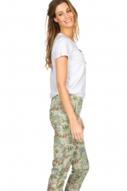Silvian Heach |  T-shirt with floral application Marrakech | white   | Picture 5