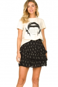 Sofie Schnoor |  T-shirt with print Caddy | natural  | Picture 2
