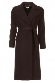 Kocca    Cloak coat with tie belt Azekel   black    Picture 1