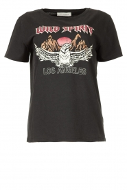 Sofie Schnoor |  T-shirt with print Nikoliene | black  | Picture 1