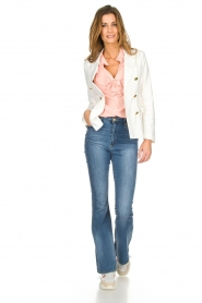 Silvian Heach |  Blazer with decorative buttons Windami | white  | Picture 3