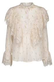 Sofie Schnoor |  Ruffle blouse Piper | natural  | Picture 1
