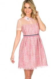 Atos Lombardini | Bouclé jurk Rosa | Roze  | Afbeelding 5