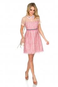Atos Lombardini | Bouclé jurk Rosa | Roze  | Afbeelding 3