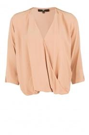 ELISABETTA FRANCHI | Zijden blouse Fina | nude  | Afbeelding 1