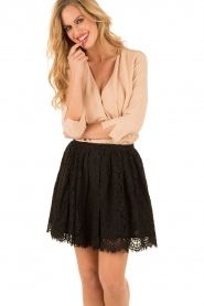 ELISABETTA FRANCHI | Zijden blouse Fina | nude  | Afbeelding 2