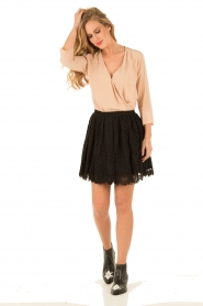 ELISABETTA FRANCHI | Zijden blouse Fina | nude  | Afbeelding 3