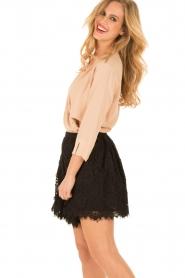 ELISABETTA FRANCHI | Zijden blouse Fina | nude  | Afbeelding 4