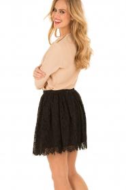 ELISABETTA FRANCHI | Zijden blouse Fina | nude  | Afbeelding 5