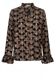 Sofie Schnoor |  Print blouse Sofie | black  | Picture 1