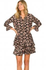 Sofie Schnoor |  Print blouse Sofie | black  | Picture 4