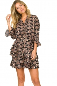 Sofie Schnoor |  Print blouse Sofie | black  | Picture 2