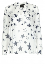 Atos Lombardini |  Top with star print Stelle | White  | Picture 1