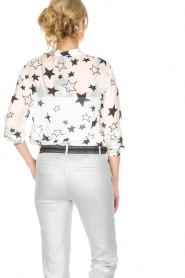 Atos Lombardini |  Top with star print Stelle | White  | Picture 6