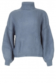 Kocca |  Knitted sweater with lowered sleeves Ulisse | blue  | Picture 1