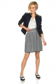 Atos Lombardini |  Skirt Gonna | blue  | Picture 7