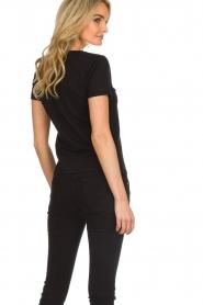 ELISABETTA FRANCHI |  T-shirt with logo application Arielle | black  | Picture 5