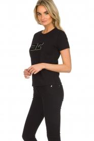 ELISABETTA FRANCHI |  T-shirt with logo application Arielle | black  | Picture 4
