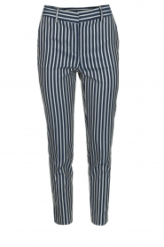 Atos Lombardini |  Striped trousers Cecilio | Blue  | Picture 1