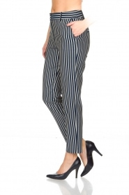 Atos Lombardini |  Striped trousers Cecilio | Blue  | Picture 4