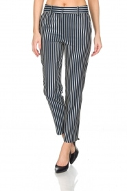 Atos Lombardini |  Striped trousers Cecilio | Blue  | Picture 2