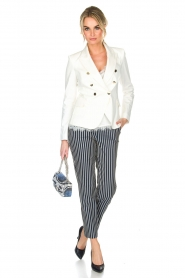 Atos Lombardini |  Striped trousers Cecilio | Blue  | Picture 3