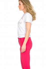 ELISABETTA FRANCHI | T-shirt met print Elisa | wit  | Afbeelding 4