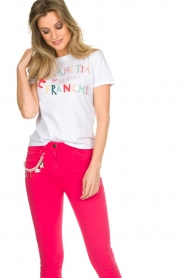 ELISABETTA FRANCHI | T-shirt met print Elisa | wit  | Afbeelding 2