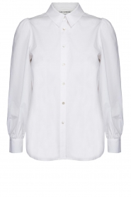 Sofie Schnoor |  Stretch blouse with puff sleeves Nikole | white  | Picture 1