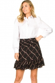 Sofie Schnoor    Stretch blouse with puff sleeves Nikole   white    Picture 2