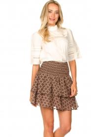 Sofie Schnoor |  Printed ruffle skirt Coraline | pink  | Picture 2