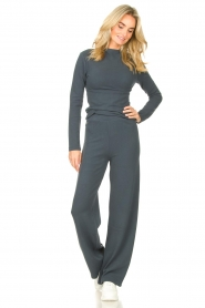 Lune Active |  Flared pants Forrest | blue  | Picture 3