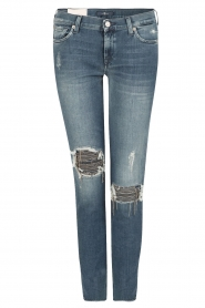 Cropped skinny jeans Unro | blauw