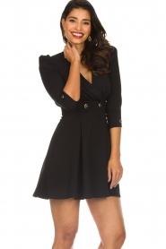 ELISABETTA FRANCHI |  Dress with button details Lena | black  | Picture 2