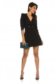 ELISABETTA FRANCHI |  Dress with button details Lena | black  | Picture 3