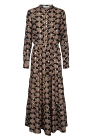 Sofie Schnoor |  Printed maxi dress Abbi | black  | Picture 1